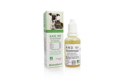 A.N.D.-101 complément alimentaire liquide chien et chat
