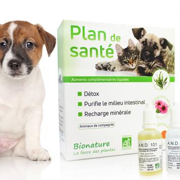 Plan santé Bionature complément alimentaire animaux