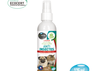 lotion anti insecte 125ml biovetol