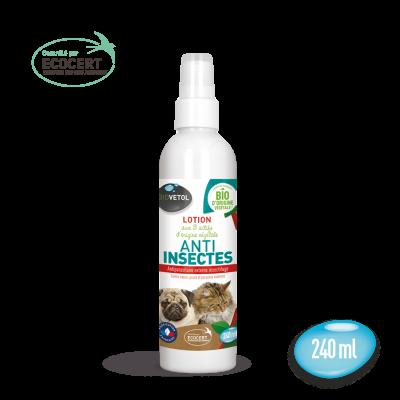lotion anti insecte 240ml biovetol