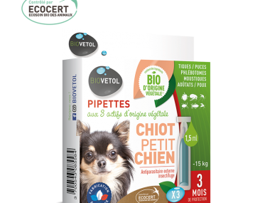 Biovetol pipette chiot et petit chien