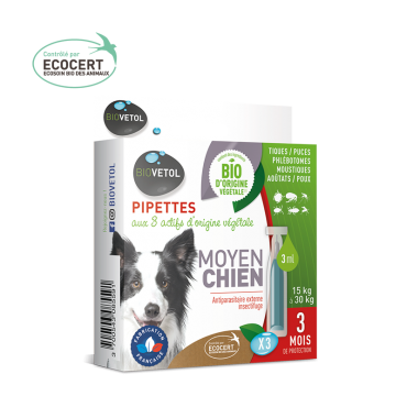 Biovétol pipette insectifuge moyen chien