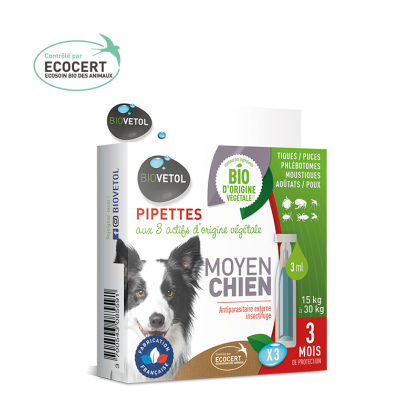 Biovétol pipette insectifuge moyen chien