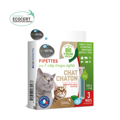 Biovétol pipette insectifuge chat