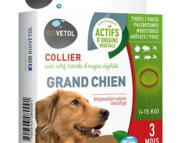 Collier anti-parasitaire Bio Biovétol grand CHIEN