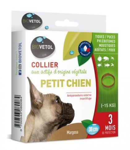 collier antiparasitaire biovetol petit chien