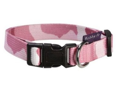 chiens-bobby-collier-camouflage-rose-