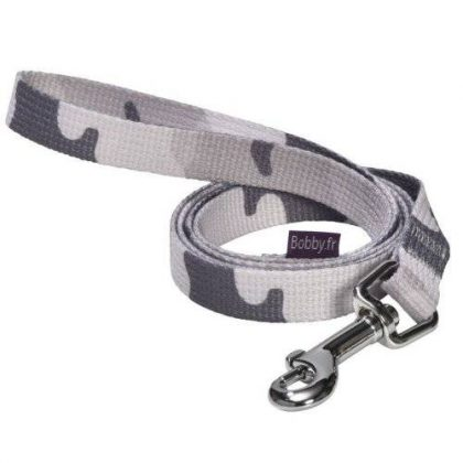 laisse camouflage gris chien bobby