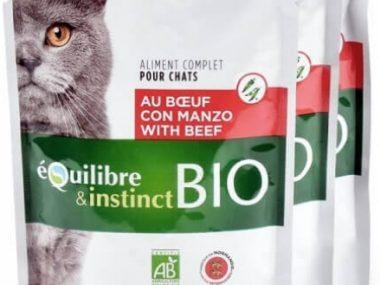 emincés boeuf bio équilibre et instinct pour chat
