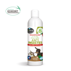 shampooing anti insectes bio chien chat biovétol