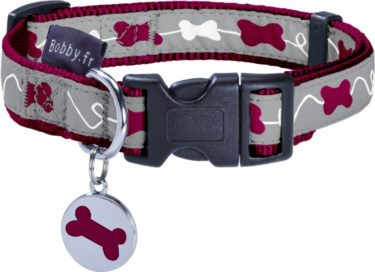 collier kyrielle pour chien framboise bobby