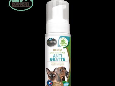 mousse-anti-gratte biovetol pour chat et chien démangeaison