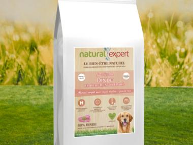 croquettes naturelles dinde pour chien