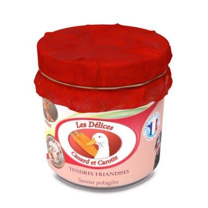 Biscuiterie de médor friandise pour chien canard et carottes