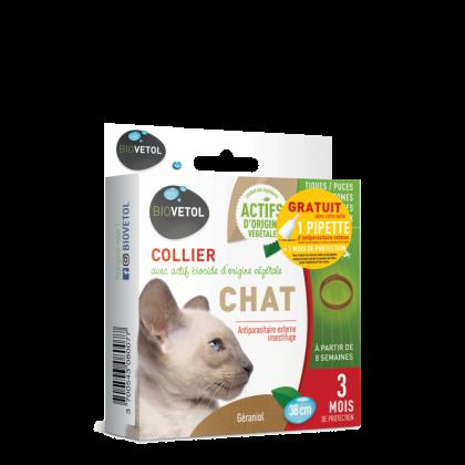 collier-insectifuge chat Biovetol naturel
