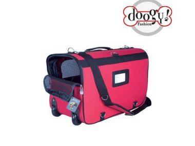 sac de transport pour chien et chat doogy rouge